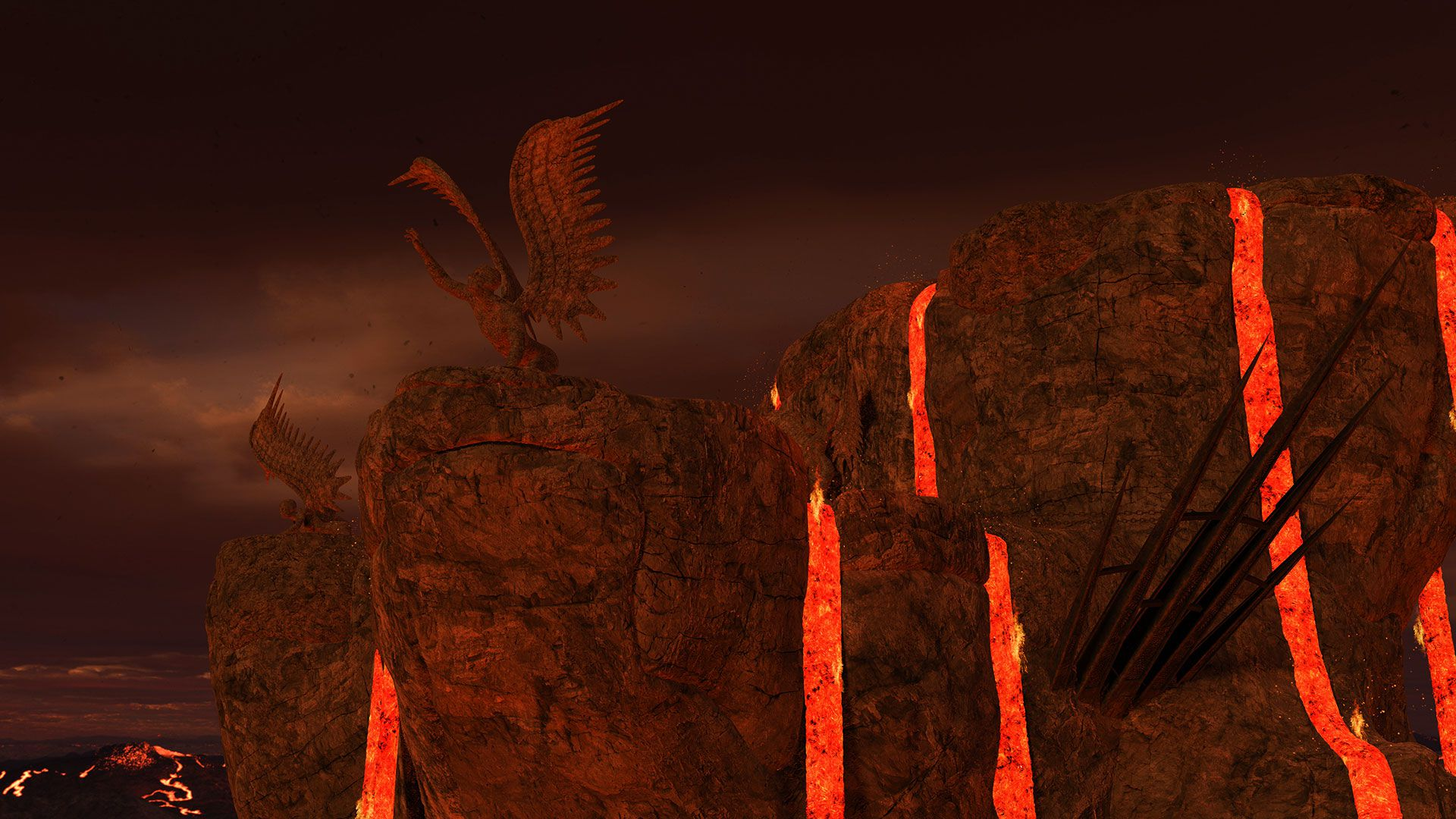 Dragonic Game Gameplay Screenshot Lava Mountain Dungeon